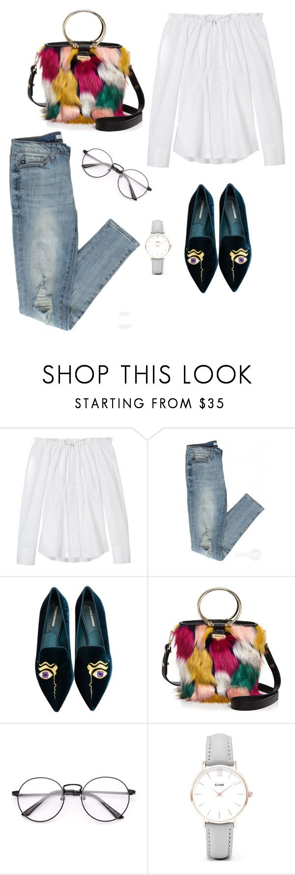 """14:59"" by esztiitoth on Polyvore featuring TIBI, Nicholas Kirkwood, Milly and CLUSE"