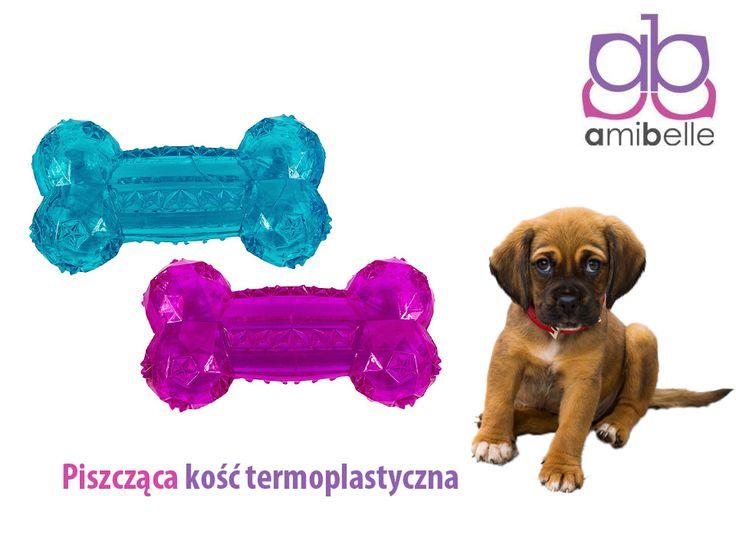 Piszcząca kość termoplastyczna to idealna zabawka dla każdego psiaka! Dostępna w dwóch rozmiarach, dla małych i większych psów! 🐾 🐶   #psy #zabawkidlapsów #psiezabawki #pies #kośćdlapsa #gumowakość