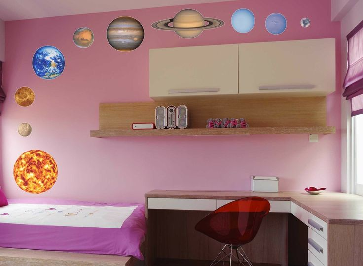 planet pack wall graphics large reusable by solanagraphicstudios 8800