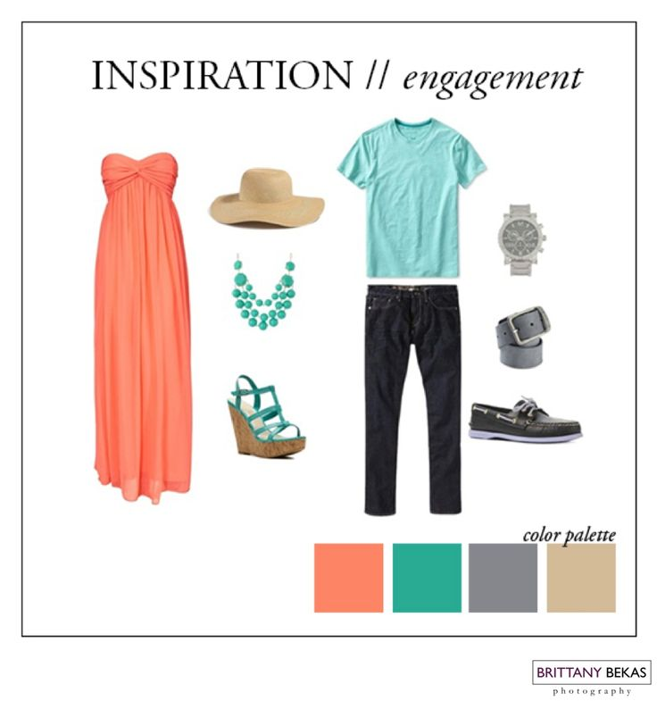 What to wear for your #summer #engagement photographs.   #brittanybekasphotgraphy | www.brittanybekas.com  To purchase the outfits here, visit http://www.polyvore.com/engagement_summer/set?id=92769206