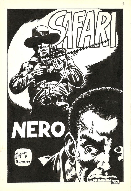 """Magnus _ Kriminal n°166, p.01 - """"Safari Nero"""", 1968"""