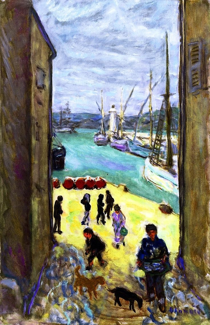 View of the Port of Saint-Tropez - Pierre Bonnard - circa 1911