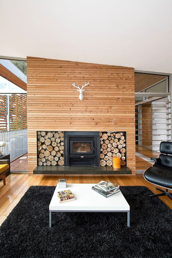 Wood burning stove or fireplace- prefer wood burning stove inserted since that is a bit more efficient. Love the scale of this.