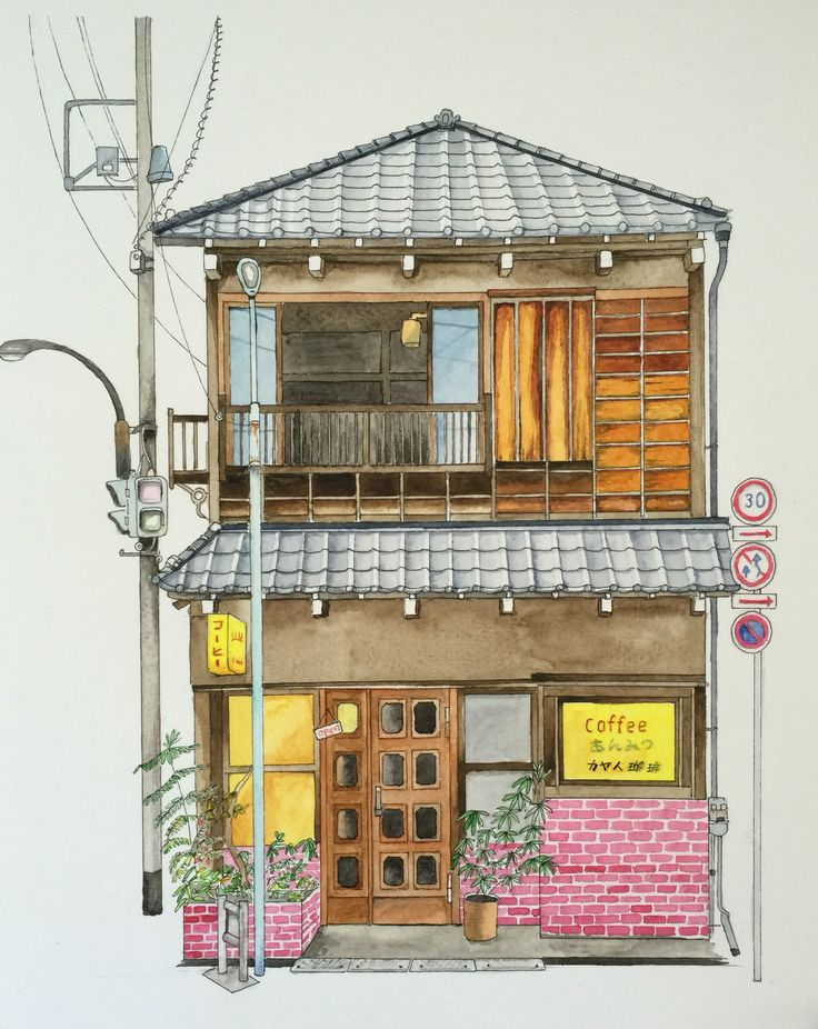 Traditional coffee shop at Yanaka Japan #kinfineart