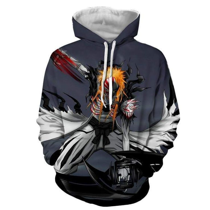 Ichigo Hollow Form Bleach 3D Printed Anime Hoodie