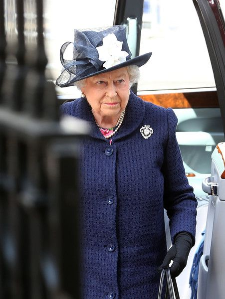 Queen Elizabeth II attends the VE Day 70th Anniversary service at Westminster Abbey on May 10, 2015 in London, England.