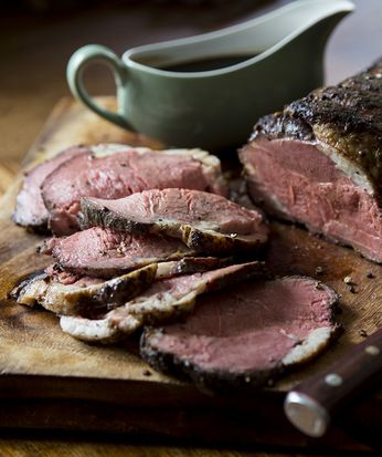 Chef Paul Merrett's slow-roast beef is the perfect roast recipe to feed a crowd. Sirloin is often used for steaks, but the cut tastes fantastic when rolled as one large joint and then slow-cooked. | Tesco