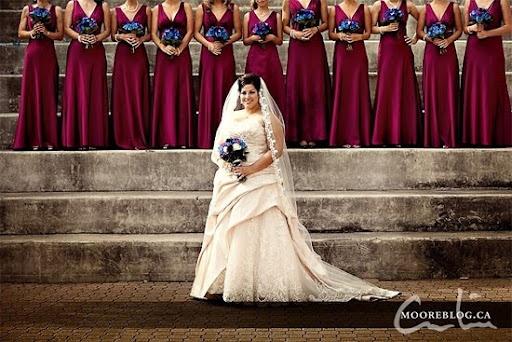 Maroon Bridesmaid Dresses