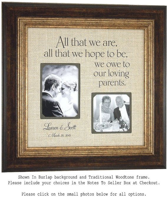 ALL THAT WE Are Custom Burlap Wedding Frame For Parents Sign Father Of The Bride Mother Reception Shower 16 X