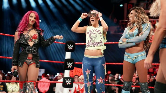 Sasha Banks, Bayley and Alicia Fox