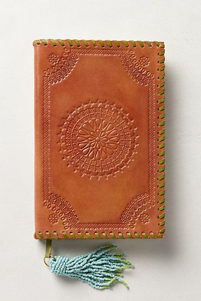 Embossed Leather Journal - anthropologie.com