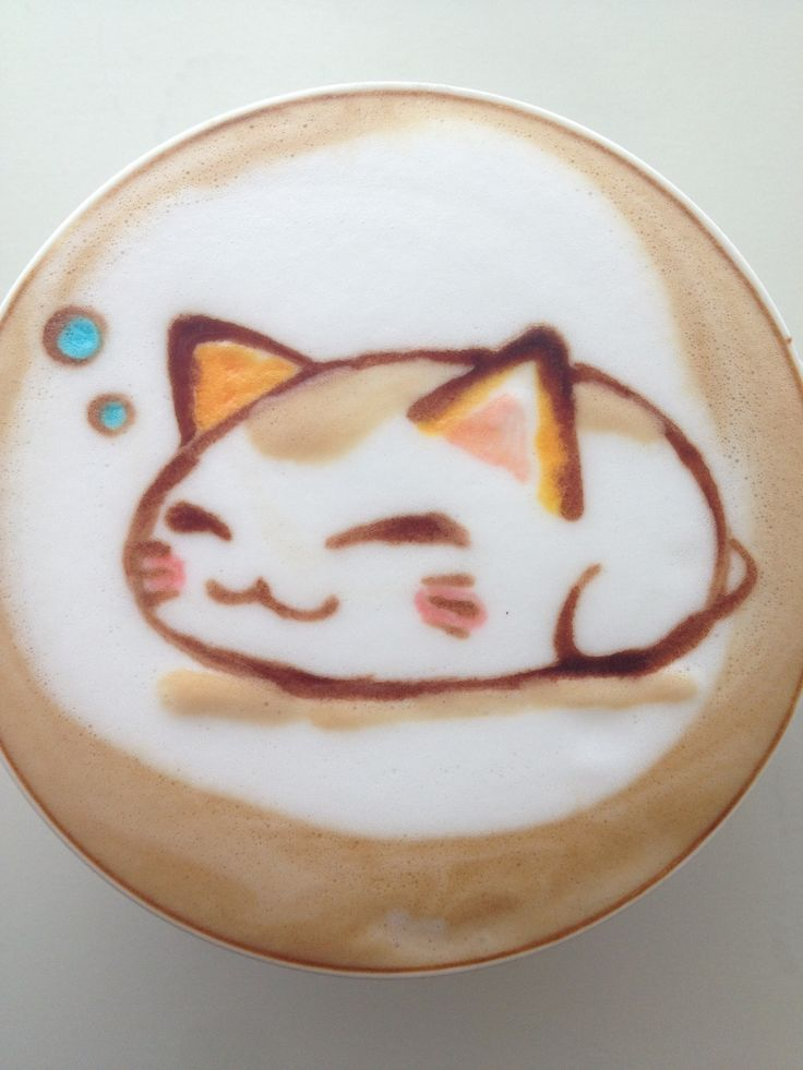 neko in my cup. Awesome coffee blog! http://theicedcoffeekid.com/
