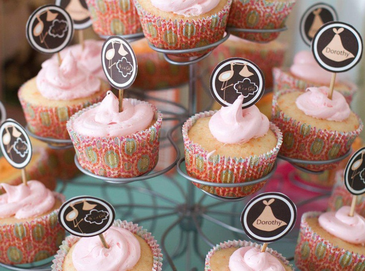 Cupcake close up for baby shower