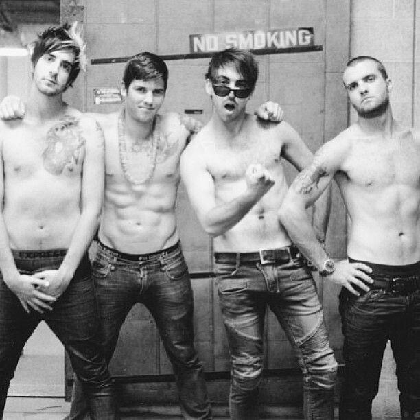 Hot DAMN!!!!  Jack Barakat  Zack Merrick  Alex Gaskarth Rian Dawson from All Time Low
