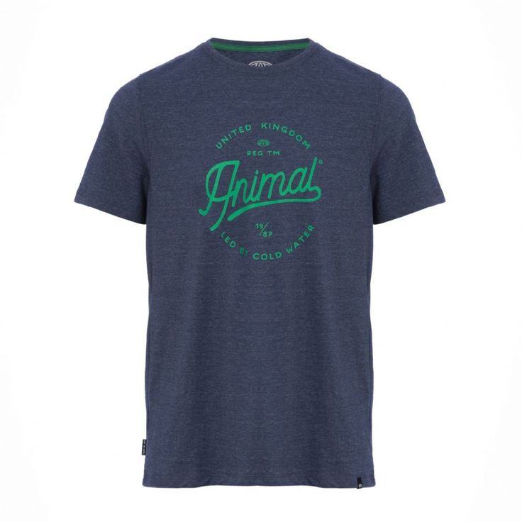 The Chase graphic tee matches heathered marl with styled Animal  typographics for a distinctly retro vibe