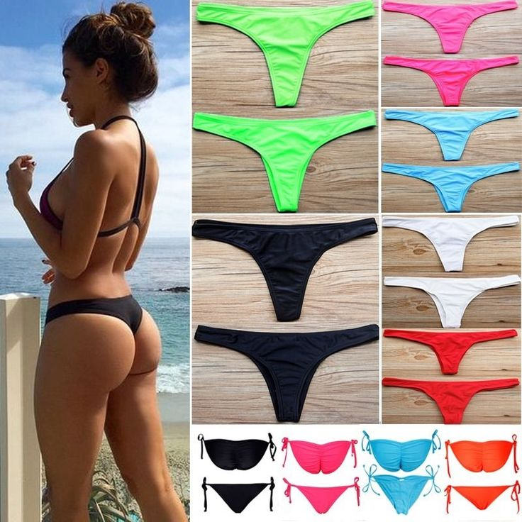 Women HOT Brazilian Cheeky Bikini Bottom Thong Bathing Beach Swimsuit Swimwear #Unbrand #BikiniBottom