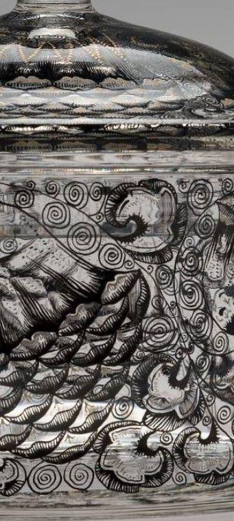 Detail - Entwurf: Karl Massanetz, Kamenický Šenov (Steinschönau), 1913 Manufaktur: Karl Massanetz, Kamenický Šenov (Steinschönau), 1913