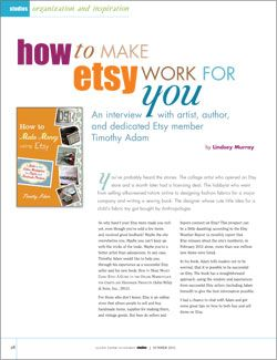 Having an Etsy Business Article: How to Make Etsy Work for You (Free resource from @Cloth Paper Scissors #mixedmedia #art