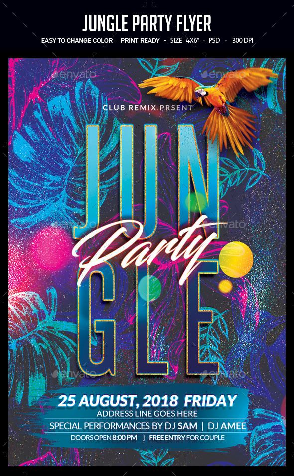 Jungle #Party #Flyer - Clubs  Parties Events Party Flyer