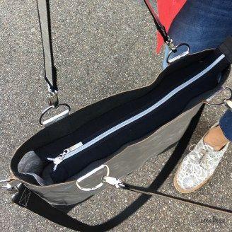 Schlichte Tasche nähen – einfacher Grundschnitt