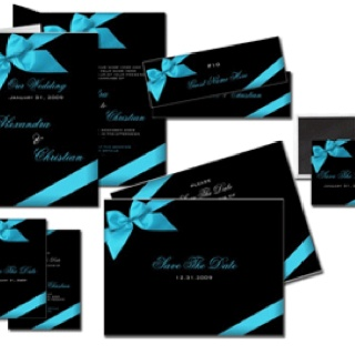 Black and Tiffany Blue invitations