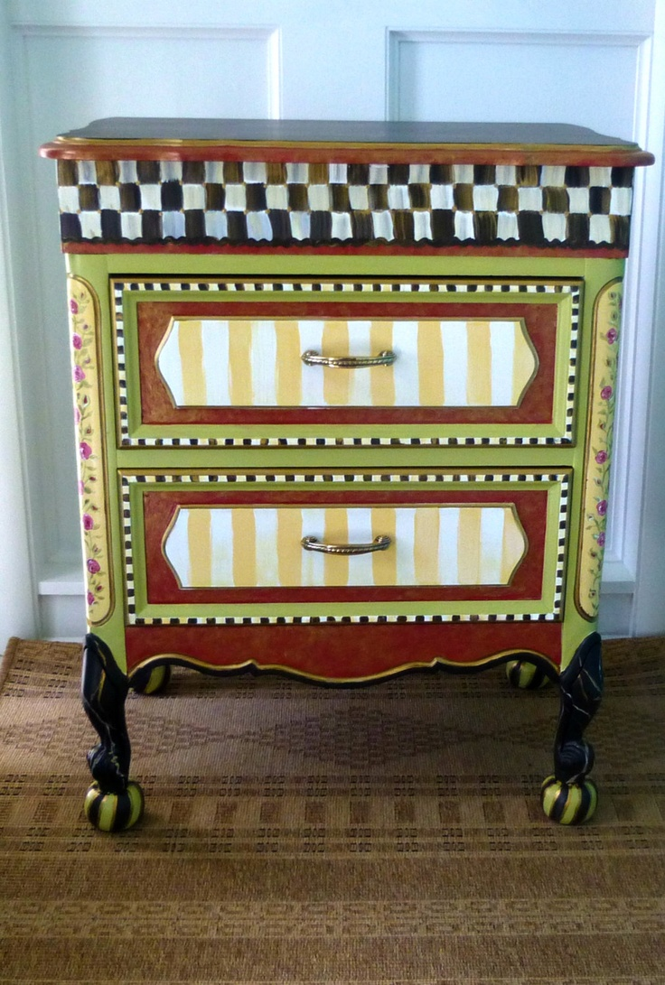 Hand painted furniture hand painted furniture vanity for Hand painted furniture