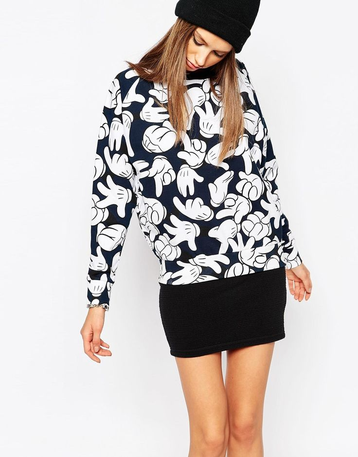Image 1 ofEleven Paris Sweatshirt Co-Ord in Mickey Mouse Hands Print