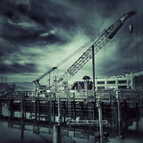 Floating Crane, Fisherman's Wharf, San Francisco, CA.