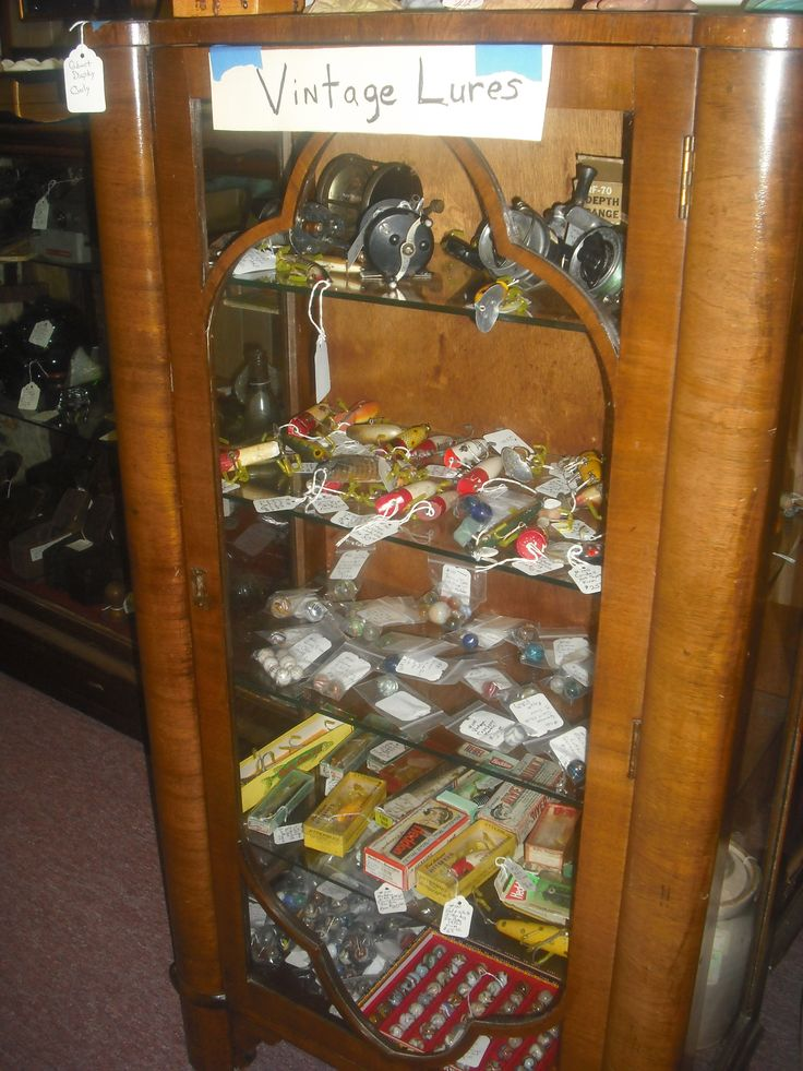 Vintage Fishing Lures - for sale - Junction Antique Mall - Shipping available.