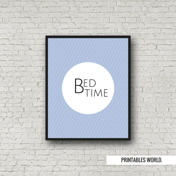 Bed Time Printable Poster Instant Download by PrintablesWorld