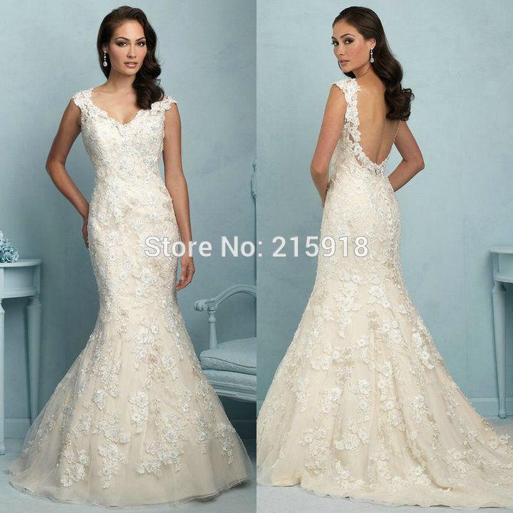 Элегантный Атласные кружева up Свадебные Платья Элегантный Розовый A-Line Свадебные Платья Платья для Невесты