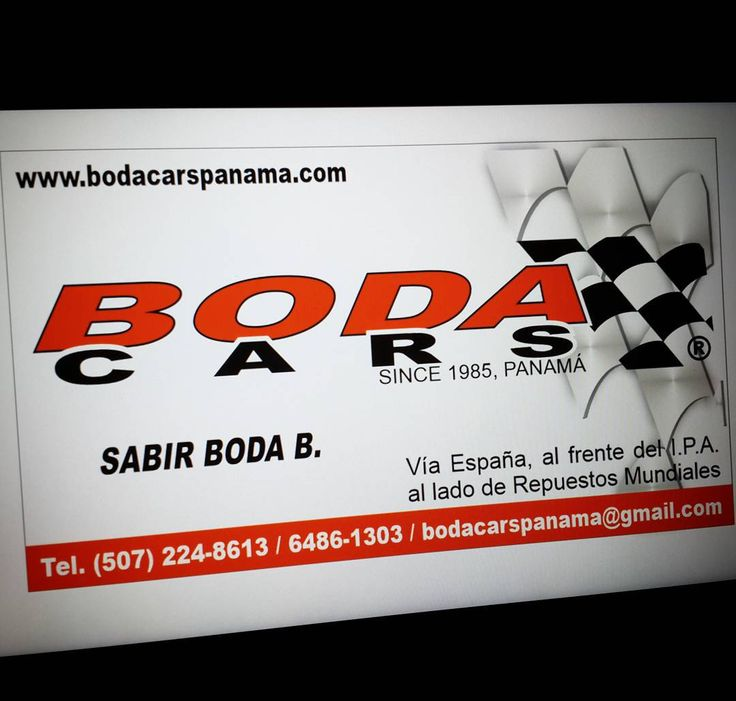 NUEVA TARJETA DE PRESENTACIÓN  BODA CARS PANAMA Compra y Venta de Autos Usados.  Tel. (507) 6486-1303  http://ift.tt/YYKXK1  bodacarspanama@gmail.com  Twitter  Facebook  Instagram #BodaCarsPanama #Cars #Panama #SeVende #SeVendePanama #AutosUsados #AutoVenta #PanamaCity #LovePanama #AmoPanama #Oferta #Ganga #Toyota #Nissan #Hyundai #Kia #Hummer #Mitsubishi #Suzuki #Mazda #MercedesBenz #BMW #Isuzu #Jeep #Honda #Ford #Lexus #Audi