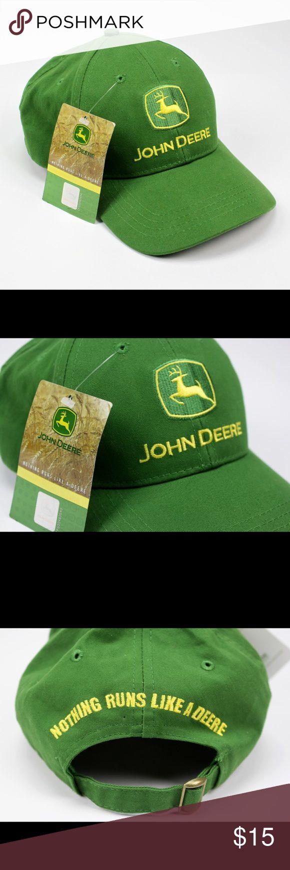 John Deere Cap - JD Green baseball cap John Deere - Nothing Runs Like A Deere cap One size - adjustable back Semi-structured Official JD product John Deere Accessories Hats