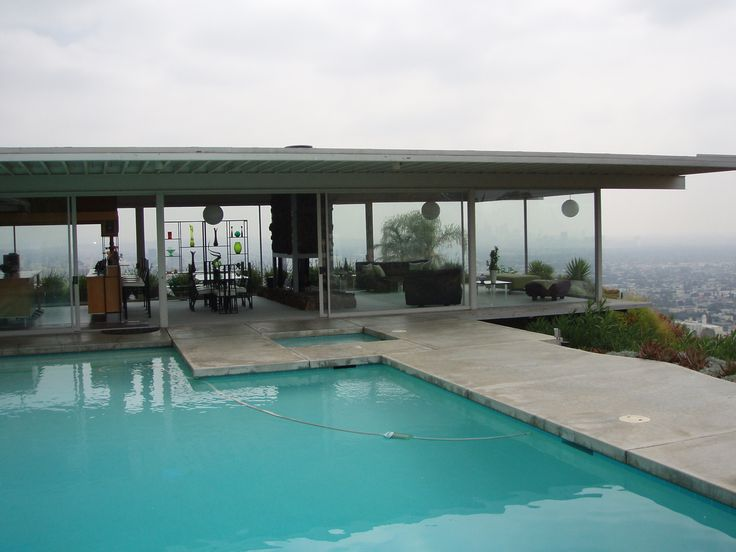 the stahl house case study house designed by pierre koenig this home is located in hollywood hills and appears to float i believe it is in