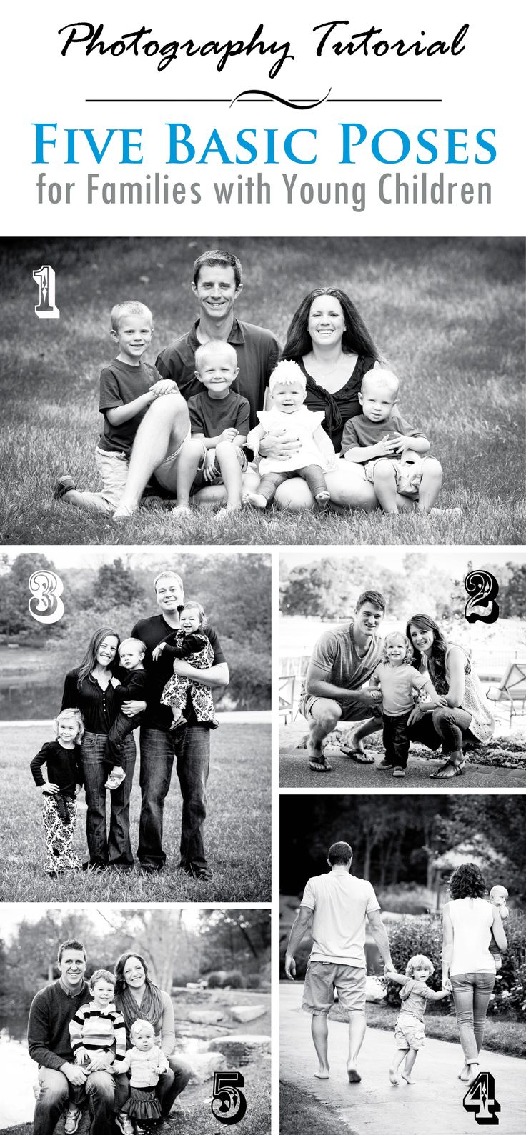 5 Basic Photography Poses for Families with Young Children