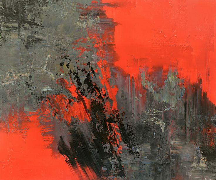 Modern Poets large abstract painting by tatiana Iliina,