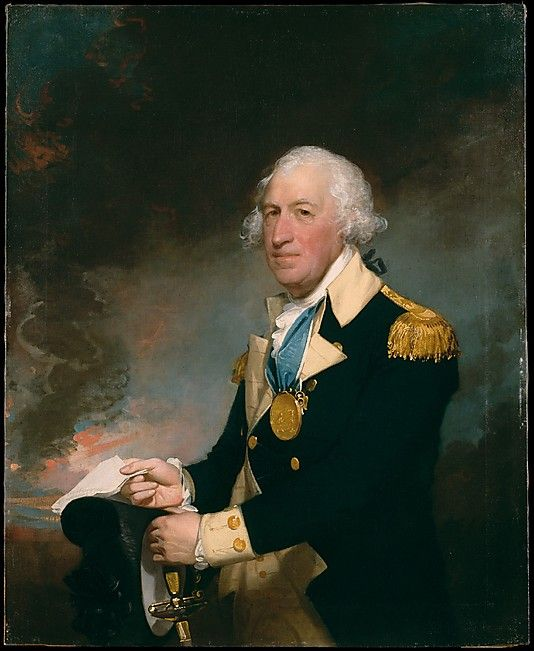 Revolutionary War hero General Horatio Gates (1728–1806), was painted long after he led his troops to victory at the Battle of Saratoga in 1777. Although his military career was turbulent, the English-born Gates is represented in the uniform of a brigadier general, decorated with the medal that Congress ordered struck to commemorate his triumph at Saratoga.