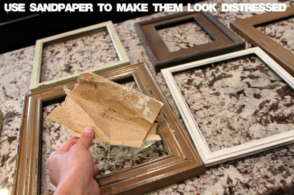 Distressing Picture Frames Diy Pinterest Craft