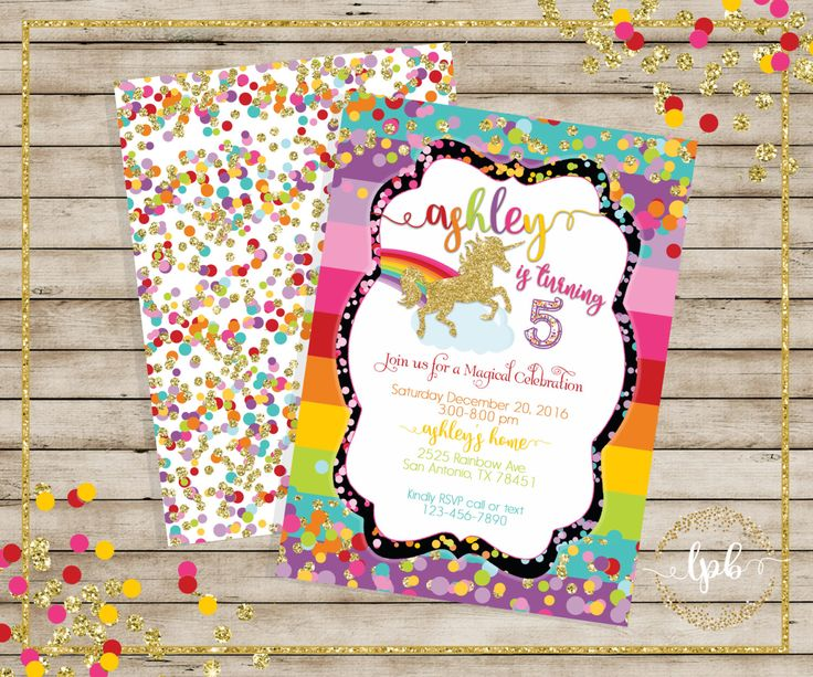 PRINTABLE- Unicorn, Rainbow Unicorn Invitations, Unicorn Invitations, Rainbows  - YOU PRINT by LillysPartyBoutique on Etsy https://www.etsy.com/listing/486553659/printable-unicorn-rainbow-unicorn