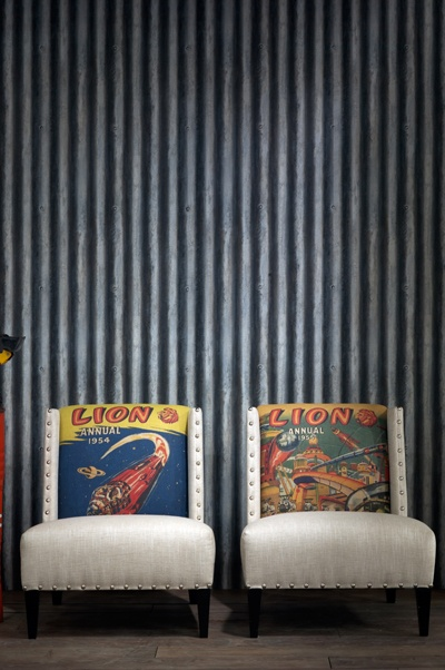 Engineer Collection 'Palmer Corrugated Iron' Wallpaper