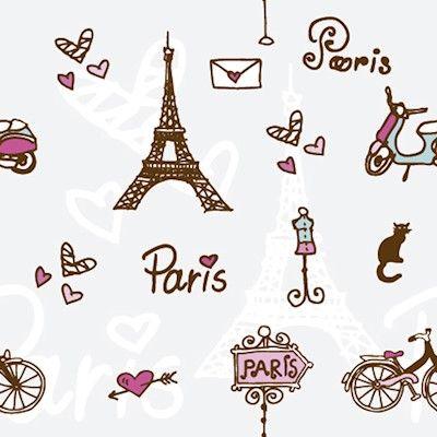 Papel de Parede Autocolante Paris Romântico Coração 175585673