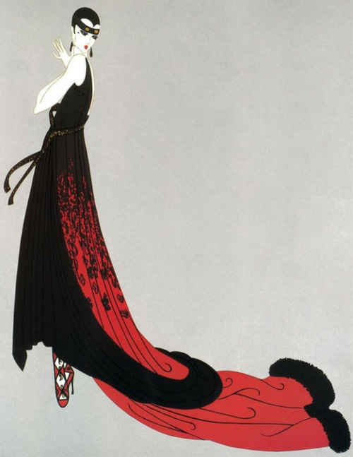 Erte, simplify and make it more angular for the women