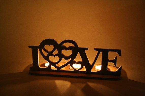 LOVE tea light holder perfect  gift or by WhyNotPersonalised, £4.90