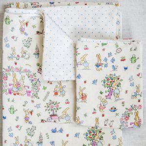 Hollyhock Home Gardening Bunnies cot bed duvet set