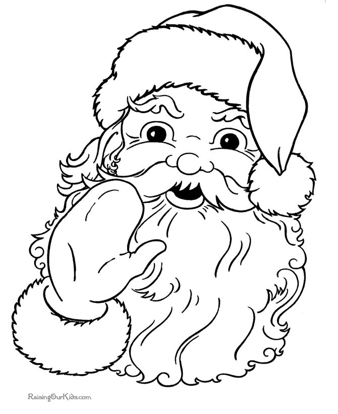 Santa - Christmas coloring pages - Lots of free printables