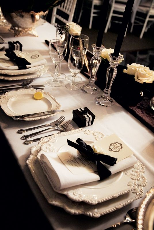 French Couture   Wedding Table Set