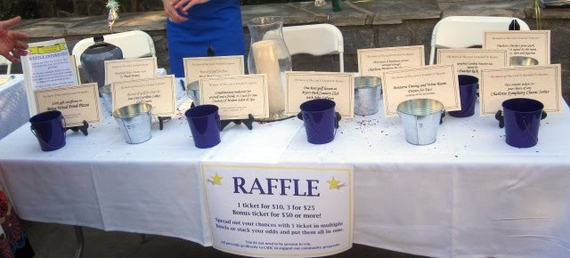 raffle table set