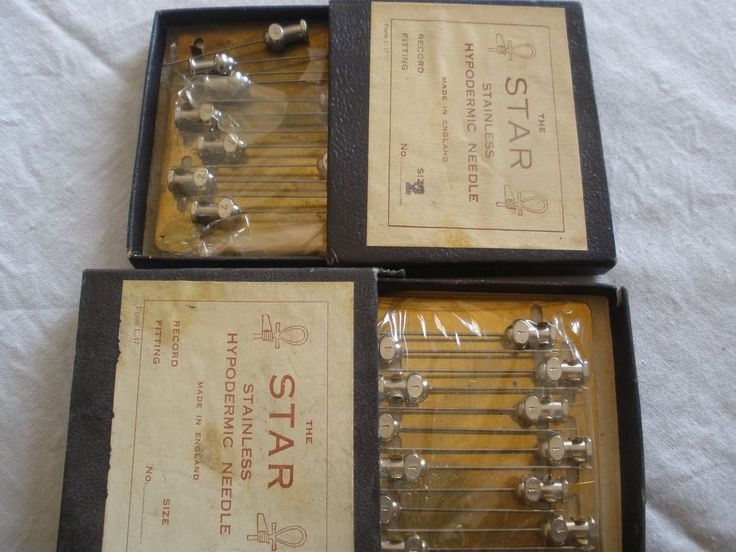 vintage 2 set of The Star hypodermic needle full packges