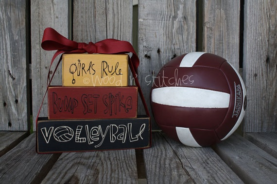 Volleyball: Volleyball 3, Schools Colors, Girls Rules, Wood Blocks, Graduation Ideas, Cute Gifts Ideas Volleyb, Cute Birthday Ideas, Coach Gifts, Volleyball Gifts