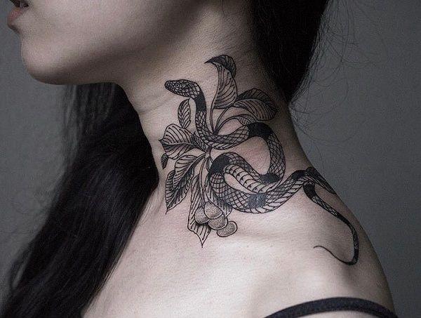 60 Snake Tattoo Ideas Neck Tattoo Snake Tattoo Tattoos